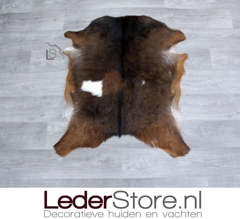 Geitenhuid bruin wit 80x65cm