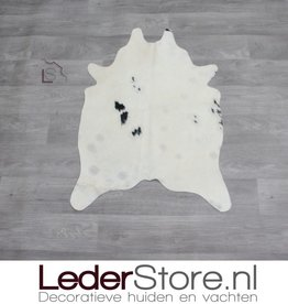 Mini cowhide rug black cream 90x60cm
