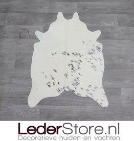 Kleine koeienhuid zwart creme 90x60cm