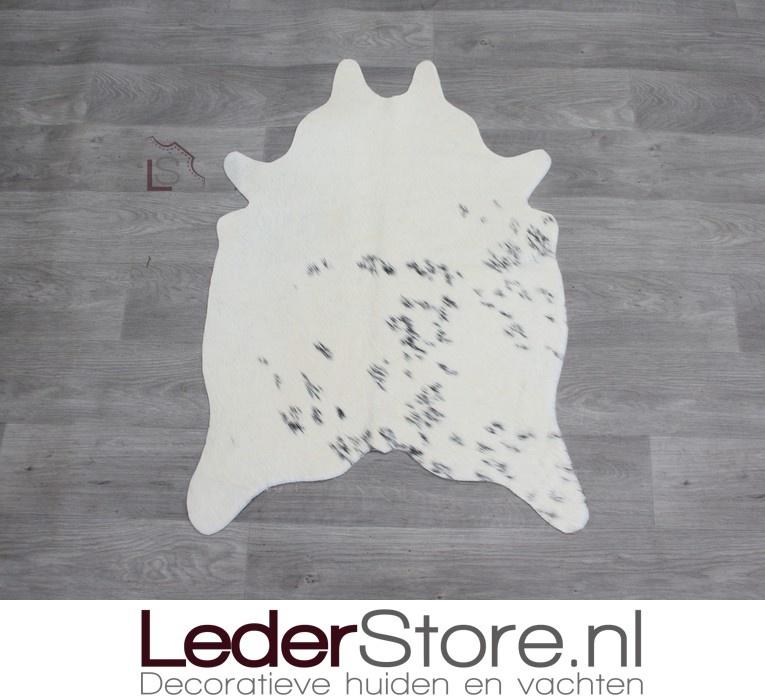 Mini cowhide rug black cream 90x60cm