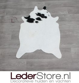 Mini cowhide rug black white 90x60cm