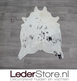 Mini cowhide rug brown white 90x60cm