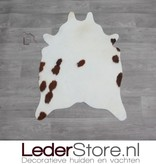 Mini cowhide rug brown white 90x60cm