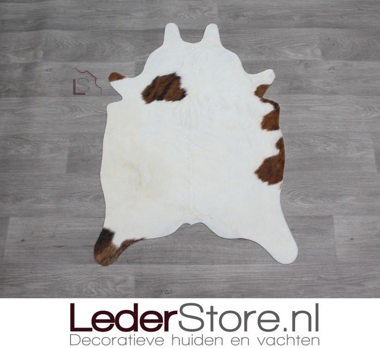 Kleine koeienhuid bruin zwart creme 90x60cm