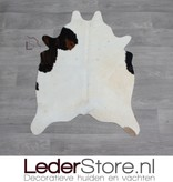 Mini cowhide rug brown black cream 90x60cm