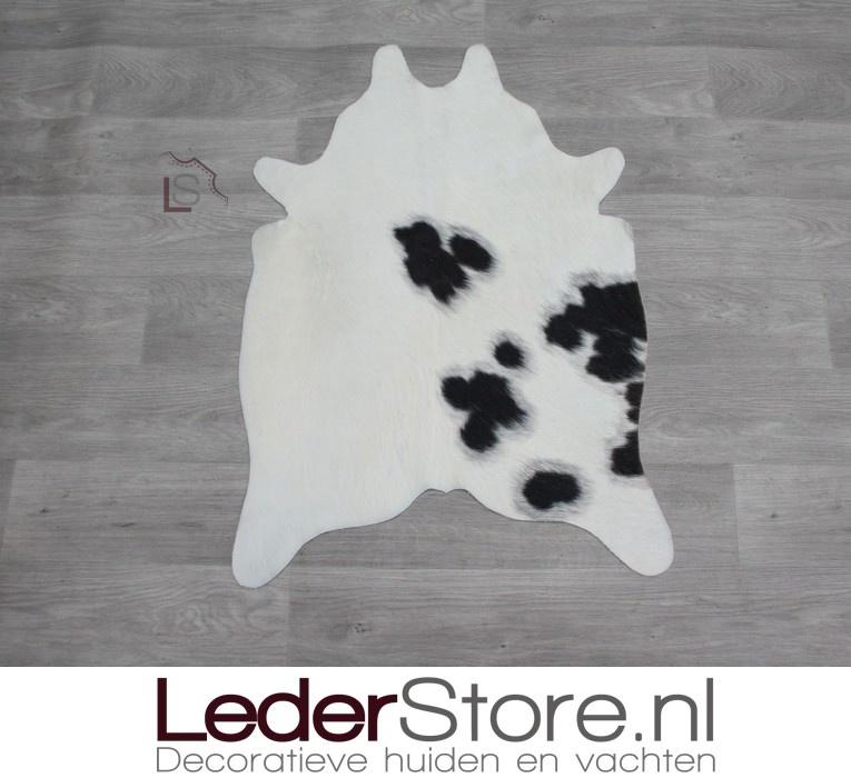 Mini cowhide rug brown black cream 90x60cm