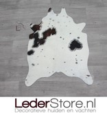 Mini cowhide rug brown black white 90x60cm