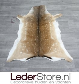 Damherthuid bruin wit 115x100cm