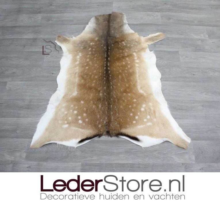 Fallow deer skin brown white 115x100cm