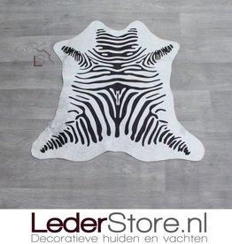 Mini cowhide rug zebraprint 70x70cm