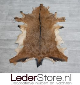 Goatskin rug brown black brown 80x75cm
