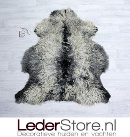 Sheepskin gray white cream 100x80cm