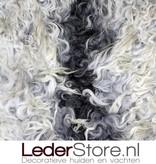 Schapenvacht grijs wit creme 100x80cm