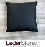 Cowhide pillow black white 40x40cm
