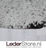 Cowhide rug brown white 205x195cm