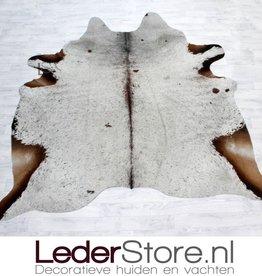 Koeienhuid bruin wit 205x195cm