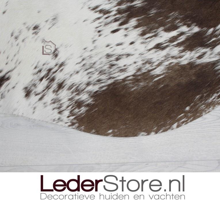 Cowhide rug taupe white 205x175cm