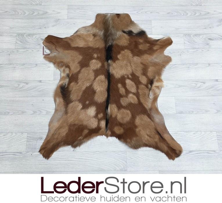 Goatskin rug brown black white 85x75cm