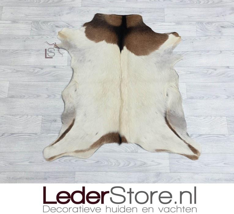 Goatskin rug brown black white 85x80cm