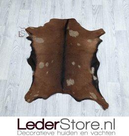 Goatskin rug brown beige 80x70cm