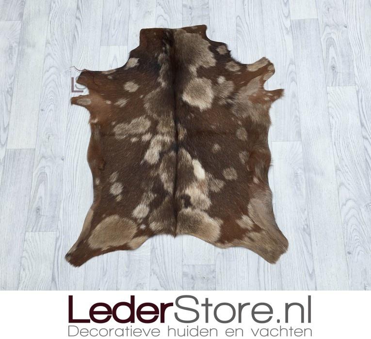 Goatskin rug brown beige 90x80cm