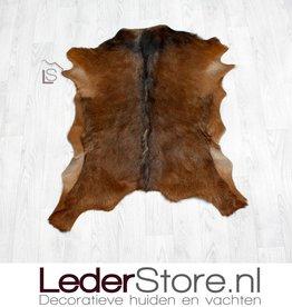 Goatskin rug brown black 85x75cm
