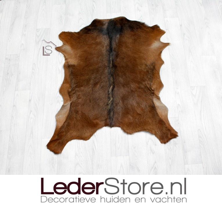 Geitenhuid bruin zwart 85x75cm