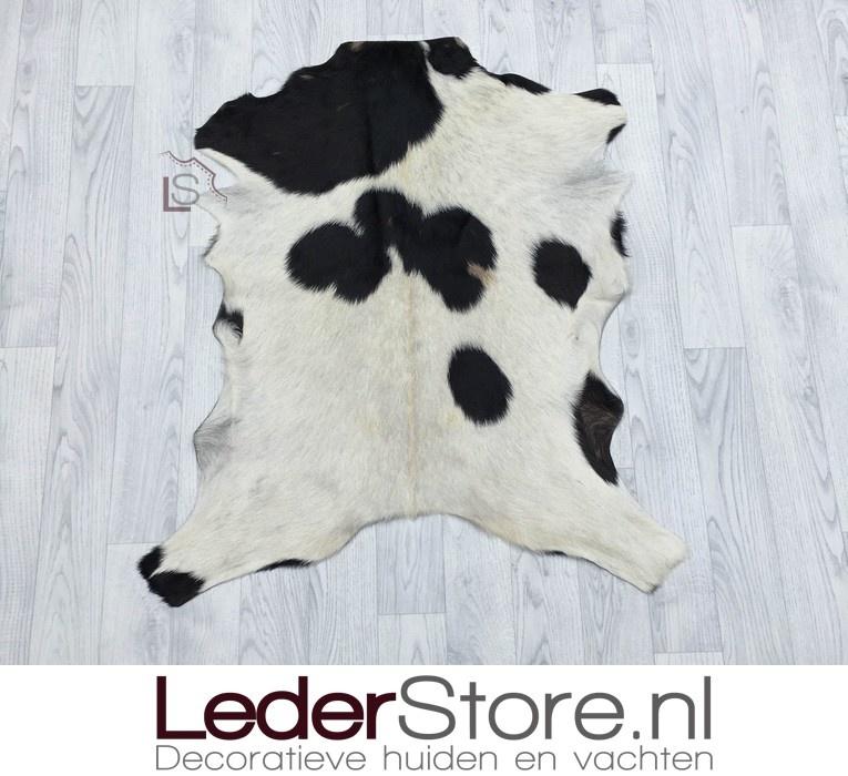 Goatskin rug brown black creme 90x80cm