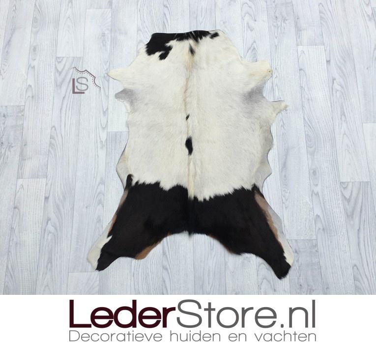 Goatskin rug brown white 85x65cm