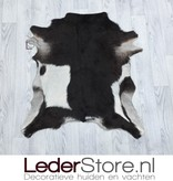 Goatskin rug brown white 85x75cm