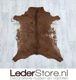 Geitenhuid bruin wit 85x75cm