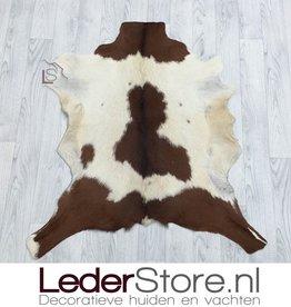 Goatskin rug brown white 90x85cm