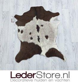 Goatskin rug brown white 80x70cm