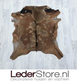 Goatskin rug brown black 75x70cm