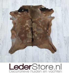 Goatskin rug brown black 75x70cm