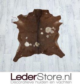 Goatskin rug beige brown 70x70cm