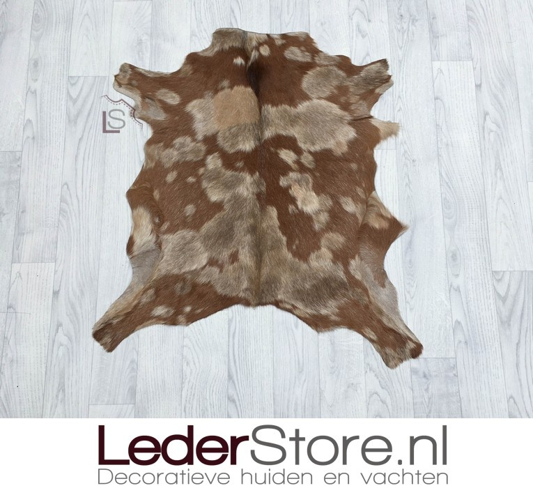Geitenhuid beige bruin 75x75cm