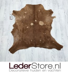 Goatskin rug brown 85x85cm