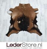 Geitenhuid bruin zwart beige 80x80cm