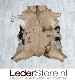 Goatskin rug brown beige black 90x80cm