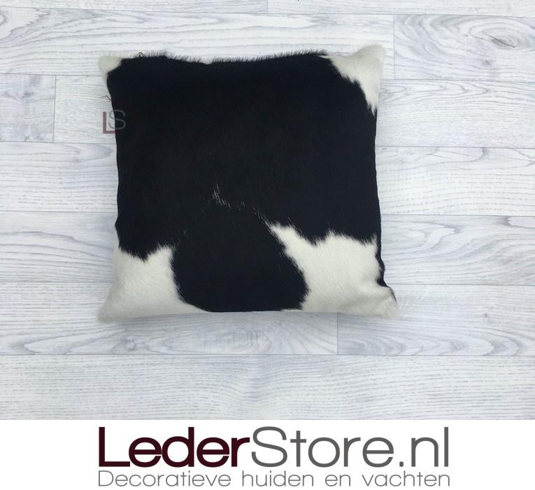 Koeienhuid kussen zwart wit 40x40cm