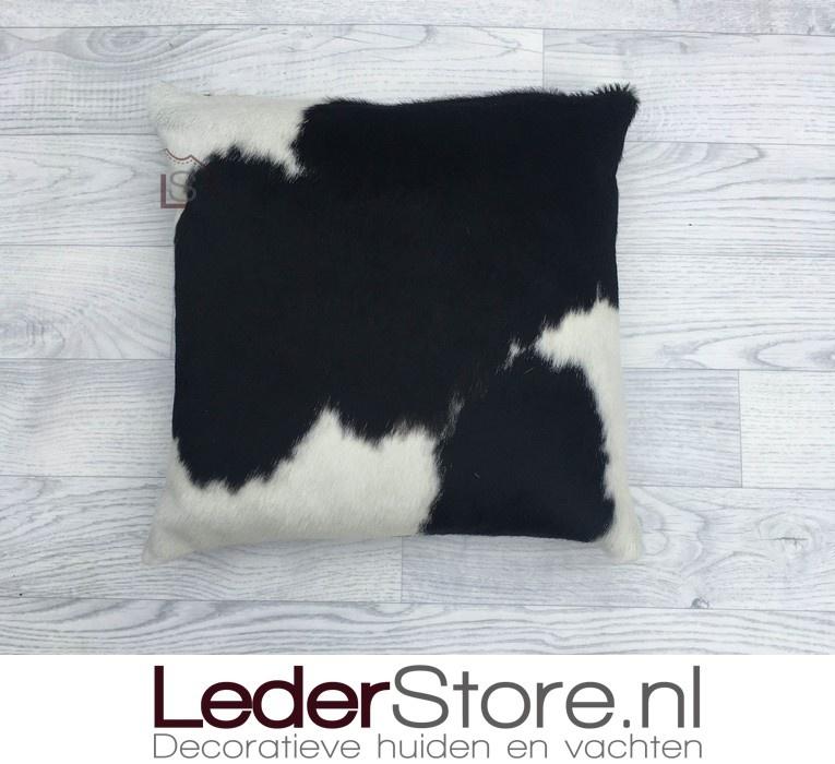 Cowhide pillow black white 40x40cm