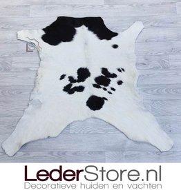 Calfhide rug black white 90x95cm