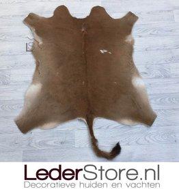Kalfshuid bruin wit 100x80cm