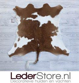 Calfhide rug brown white 95x80cm