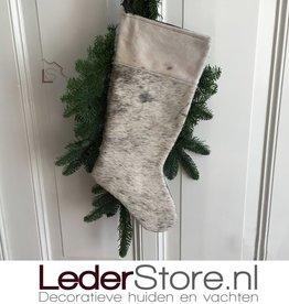 Koeienhuid kerstsok zwart wit 50x24cm
