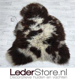 Sheepskin brown white 115x90cm