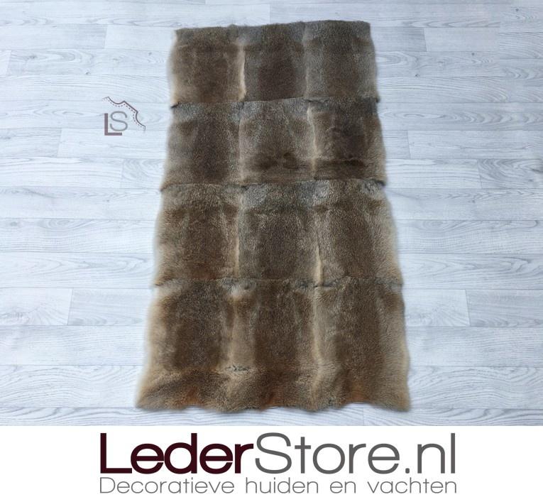 Rabbit skin plaid brown 120x65cm