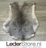 Konijnenvacht grijs wit 45x35cm
