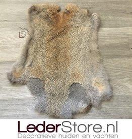 Rabbit skin gray brown 50x35cm